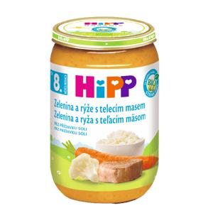 HiPP Príkrm Zelenina teľacie mäso a ryža Junior menu 220 g