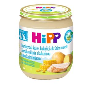 HiPP Príkrm Zemiaky s kukuricou a morčacím mäsom Baby menu 125 g