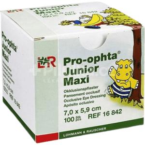 PRO-OPHTA JUNIOR MAXI OČNÉ KRYTIE nepriehľadné 5 ks