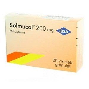 Solmucol 200 mg gra 20 vrecúšok