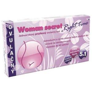 Woman secret RIGHT TIME ovulačný test PRÚŽKOVÝ 5v1