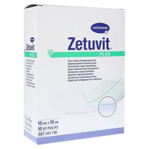 ZETUVIT Plus kompres nasiakavý sterilný 10 ks