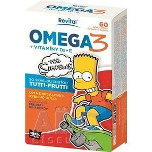 Revital The Simpsons Omega 3 + vitamíny D3 a E 60 tabliet