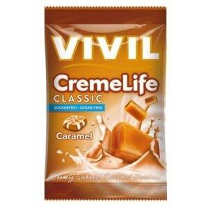 VIVIL Bonbons Creme Life Classic drops s karamelovo-smotanovou príchuťou bez cukru 110 g