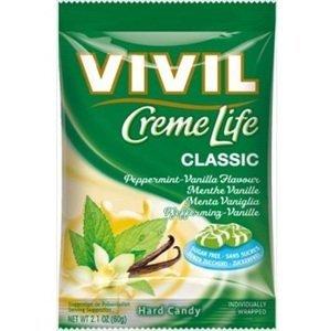 VIVIL Bonbons Creme Life Classic drops s vanilkovo-mätovou smotanovou príchuťou bez cukru 110 g