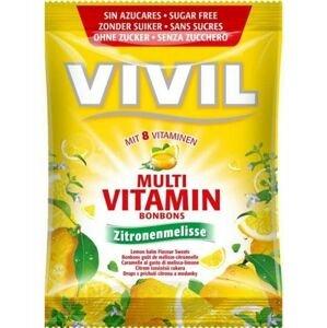 VIVIL BONBONS MULTIVITAMÍN drops s príchuťou citrónu a medovky, bez cukru 60 g