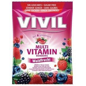 VIVIL BONBONS MULTIVITAMÍN drops s príchuťou lesného ovocia bez cukru 60 g