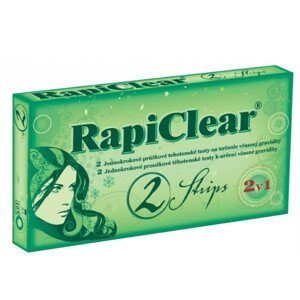 RapiClear Tehotenský test Strips 2v1 2 ks