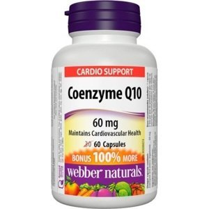 Webber Naturals Koenzým Q10 60 mg cps 30+30 zadarmo