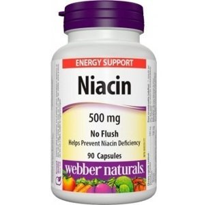 Webber Naturals Niacin 500 mg 90 cps