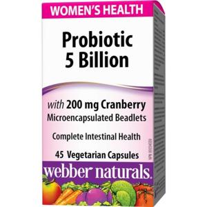 Webber Naturals Probiotiká s brusnicami pre ženy cps 1x45 ks