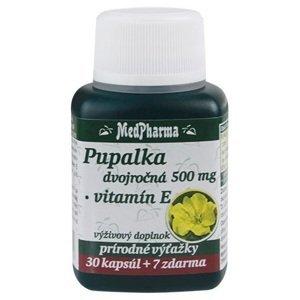MedPharma Pupalka dvojročná 500mg + Vitamín E 30+7cps zadarmo