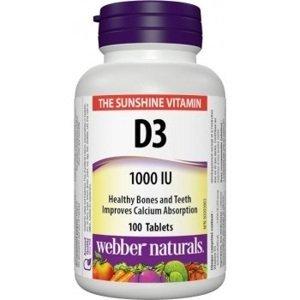 Webber Naturals Vitamín D3 1000 IU 100 tbl