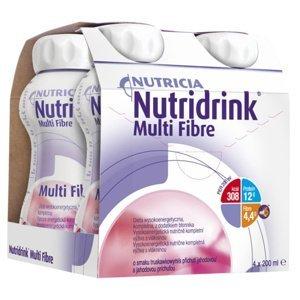 NUTRIDRINK MULTIFIBRE jahodová príchuť 4x200ml