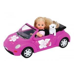 Bábika Evička s autom New Beetle