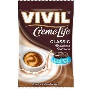 VIVIL Bonbons Creme Life Classic drops Brasilitos Espresso s kávovou príchuťou, bez cukru 40 g