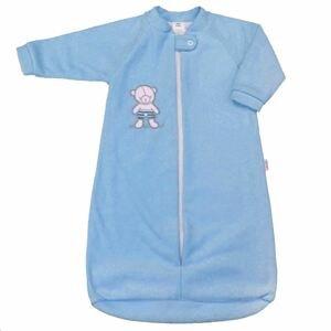 New Baby Dojčenský froté spací vak, 9-12mes. medvedík modrý