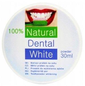 Natural Dental White bieliaci prášok na zuby 30ml