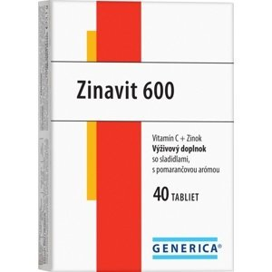 GENERICA Zinavit 600 s pomarančovou arómou tbl 40 ks