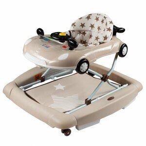 New Baby Detské chodítko s hojdačkou a siikónovými kolieskami Little Racing Car