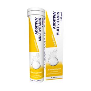 ADDITIVA MULTIVITAMÍN + Minerál, Mandarínka šumivé tablety 20ks