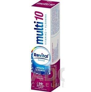 Revital Multi s príchuťou malina 20 šumivých tabliet