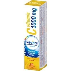 Revital Vitamín C 1000 mg s príchuťou citrón 20 šumivých tabliet