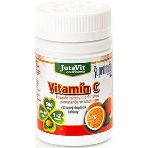JutaVit Vitamín C 500 žuvacie tablety s príchuťou pomaranča 60+10