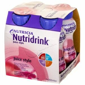 NUTRIDRINK jahodová príchuť 4x200 ml