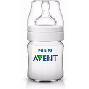 AVENT FĽAŠA Klasik+, PP 125 ml cumlíkotvor, novorodenecký, extra mäkký,