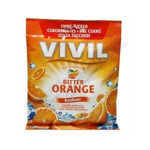 VIVIL drops s príchuťou horkého pomaranča s vitamínom C, bez cukru 80g