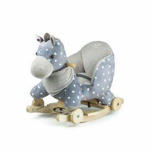 Kinderkraft Hojdačka s melódiou koník sivý