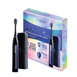 VITAMMY PEARL+ Black Sonická zubná kefka s funkciou čistenia, bielenia a masáže