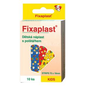 FIXAplast KIDS strip detská náplasť s vankúšikom 72x19 mm, 10 ks