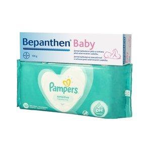 Bepanthen Baby masť 1x100 g + darček Pampers obrúsky zadarmo 1x1 set