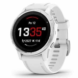 Garmin GPS športové hodinky Fenix6S Glass, Silver / White Band