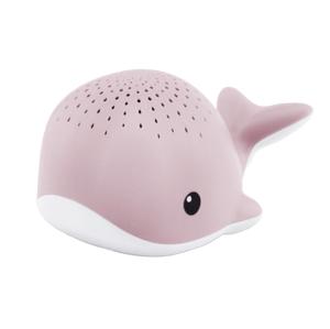 Zazu Veľryba WALLY Noční projektor s melódiami ružový