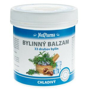 MedPharma Bylinný balzam chladivý extrakt z 33 druhov bylín 250ml