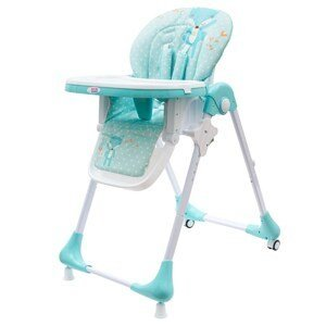 NEW BABYJedálenská stolička - ekokoža a vložka pre bábätká Minty Fox
