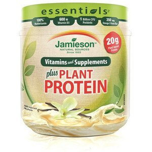 Jamieson Essentials™ plus RASTLINNÝ PROTEIN s príchuťou vanilky a javorového sirupu 350g