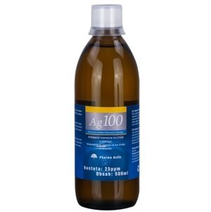Koloidné striebro Ag100 hustota 25 ppm 500 ml