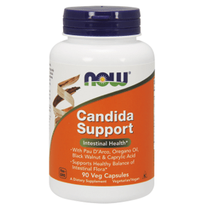 Now Foods Candida Support, podpora črevnej flóry 90 veg kapsúl