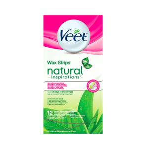Veet Natural Inspirations Studené voskové prúžky pre normálnu a suchú pokožku 12ks
