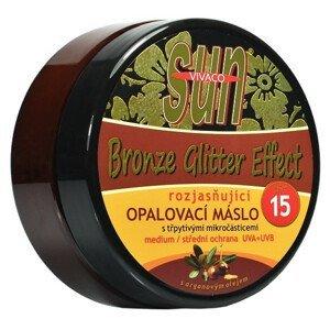 Vivaco Opaľovacie maslo s arganovým olejom s rozjasňujúcimi zlatými glitrami SPF15 200ml