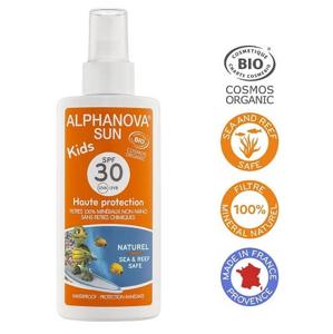 Alphanova Opalovací krém ve spreji pro děti SPF30 BIO 125g
