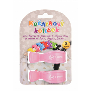 T-tomi Kočíkové štipce pastel pink 2ks