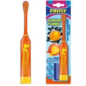 FIREFLY Junior Turbo, elektrická zubná kefka, oranžová, 7r+