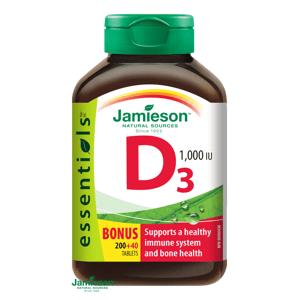 Jamieson Vitamín D3 1000IU 200+40 tabliet