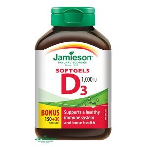 Jamieson Vitamín D3 1000IU 180 kapsúl