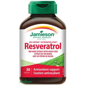 Jamieson Resveratrol 50mg extrakt z červeného vína 30 kapsúl